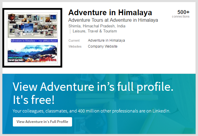 adventure in himalaya linkedin